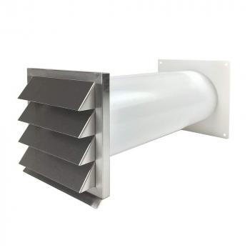 easytec energiesparender mauerkasten 150 mm edelstahl mit zwei r ckstauklappen 716350881519. Black Bedroom Furniture Sets. Home Design Ideas