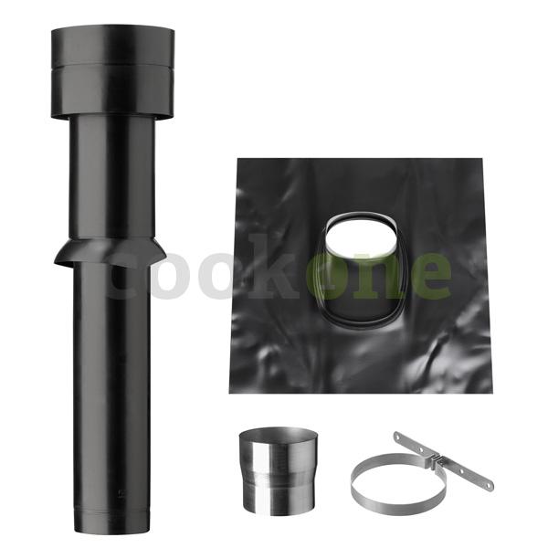 NOVY easytec Dachdurchführung 150 mm Bleipfanne schwarz
